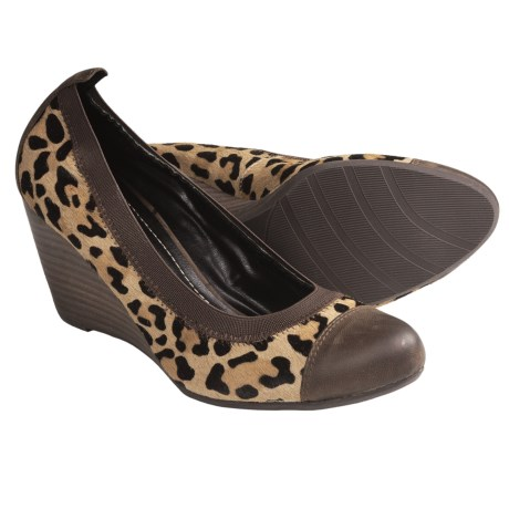 Nicole Nook Wedge Heel Pumps (For Women) in Camel