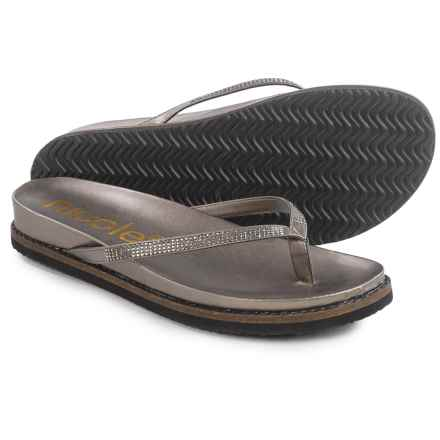 Nicole Studded Rhody Flip-Flops - Vegan Leather (For Women) in Grey - Closeouts