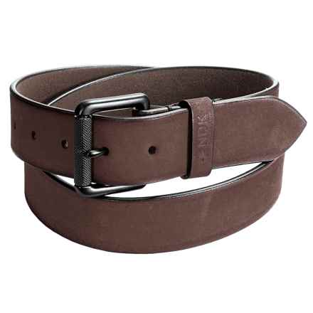Nidecker Cosmopolitan Rugged Belt - Leather (For Men) in Nutmeg - Closeouts
