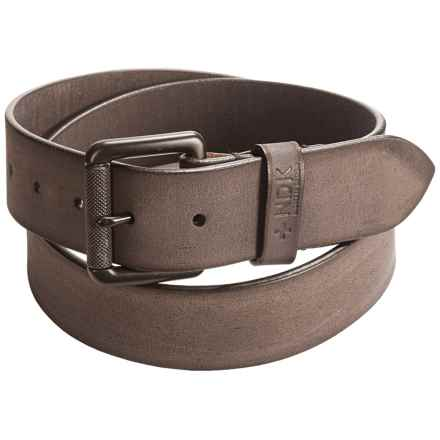 Nidecker Cosmopolitan Rugged Belt - Leather (For Men) in Shale - Closeouts