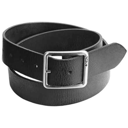 Nidecker Cosmopolitan Rugged Reversible Belt - Leather (For Men) in Coal - Closeouts