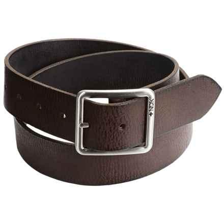 Nidecker Cosmopolitan Rugged Reversible Belt - Leather (For Men) in Dark Brown - Closeouts