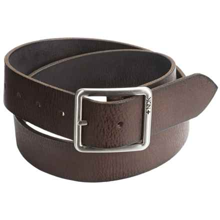 Nidecker Cosmopolitan Rugged Reversible Belt - Leather (For Men) in Nutmeg - Closeouts