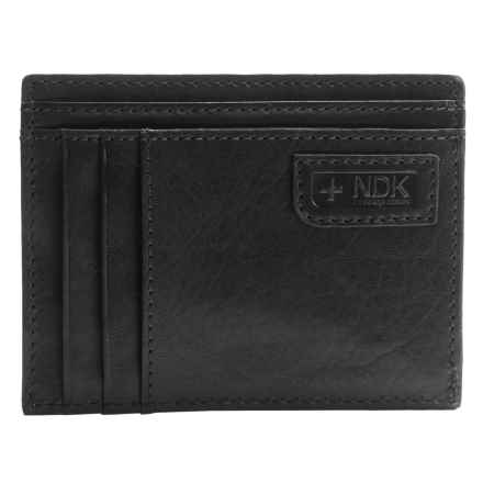 Nidecker RFID Front Pocket Getaway ID Wallet in Black Leather - Closeouts