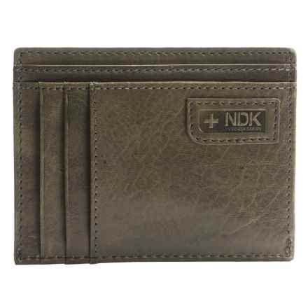 Nidecker RFID Front Pocket Getaway ID Wallet in Grey Leather - Closeouts