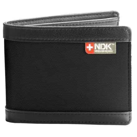 Nidecker RFID Slimfold Bi-Fold Wallet in Black Leather - Closeouts