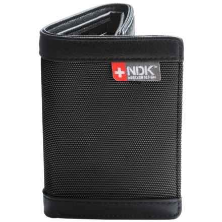 Nidecker RFID Three-Fold Wallet in Black Fabric - Closeouts