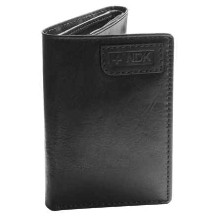 Nidecker RFID Three-Fold Wallet in Black Leather - Closeouts