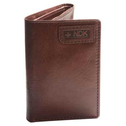 Nidecker RFID Three-Fold Wallet in Dark Brown Leather - Closeouts