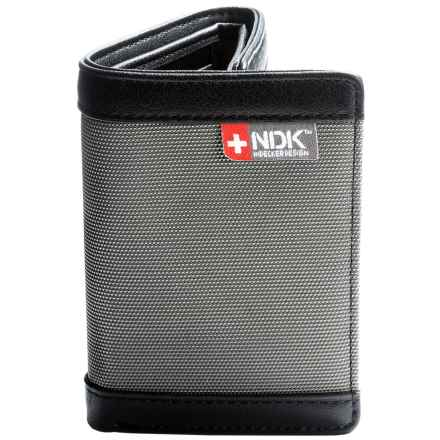 Nidecker RFID Three-Fold Wallet in Grey Leather - Closeouts