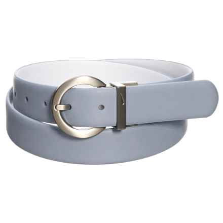 Nike Classic Reversible Golf Belt (For Women) in Dove Grey/White - Closeouts