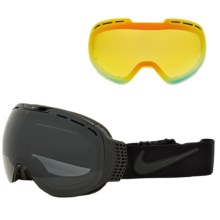 Nike Command Ski Goggles - Extra Lens in Black/Dark Smoke-Yellow Red Ion - Closeouts