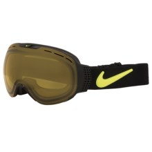 Nike Command Snowsport Goggles - Photochromic Transitions Lens in Black Volt/Yellow Af - Closeouts