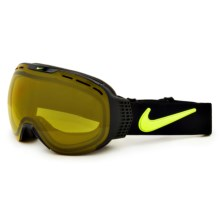 Nike Command Snowsport Goggles - Photochromic Transitions Lens in Black Volt/Yellow - Closeouts