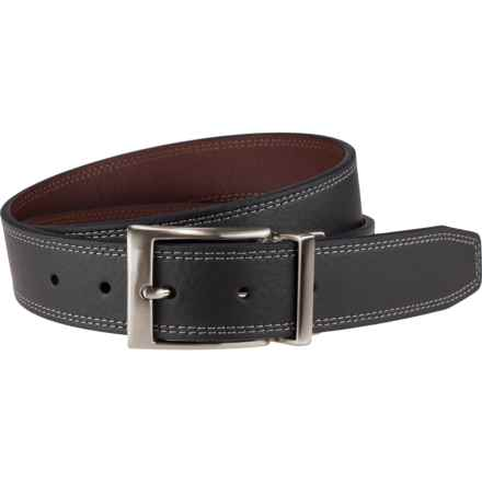 Nike Double-Stitch Leather Belt - Reversible (For Men) in Black/Brown - Closeouts