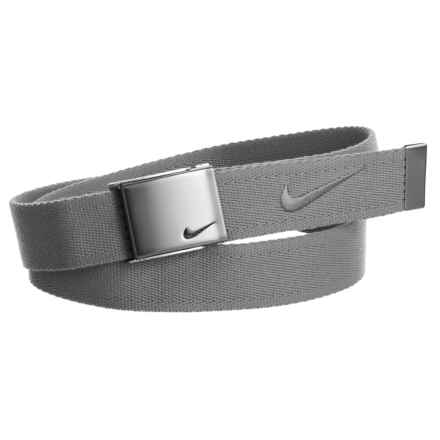 Nike Embroidered Logo Web Belt (For Men) in Charcoal - Closeouts