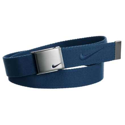 Nike Embroidered Logo Web Belt (For Men) in College Navy - Closeouts