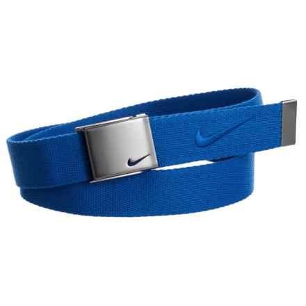 Nike Embroidered Logo Web Belt (For Men) in Game Royal - Closeouts