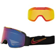 Nike Fade Snowsport Goggles - Extra Lens in Iridescent/Purple Ion-Yellow Red Ion - Closeouts