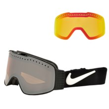 Nike Fade Snowsport Goggles - Photochromic, Extra Lens in Black/Ionized-Yellow Red Ion - Closeouts