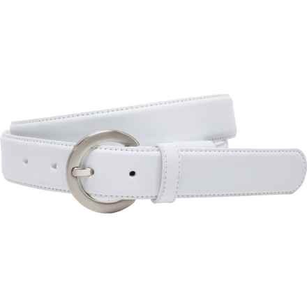 Nike G-Flex Leather Belt (For Women) in White - Closeouts
