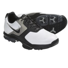 Nike Golf Air Academy II Golf Shoes (For Men) in White/Black/Metallic/Pewter/Medium Grey - Closeouts