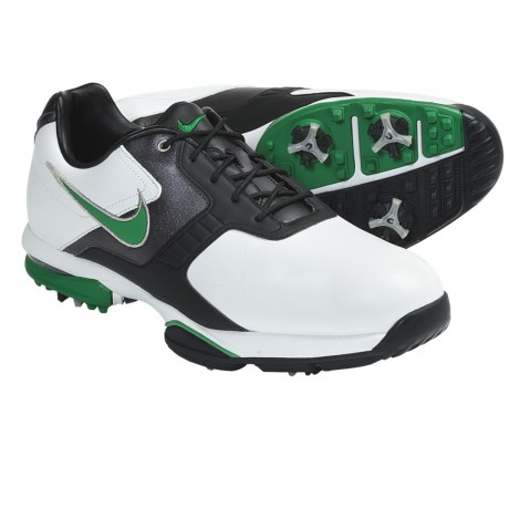 Nike Golf Air Academy II Golf Shoes (For Men) in White/Court Green/Black/Metalic Dark Grey