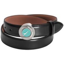 Nike Golf Ball Marker II Leather Belt (For Women) in Black - Closeouts