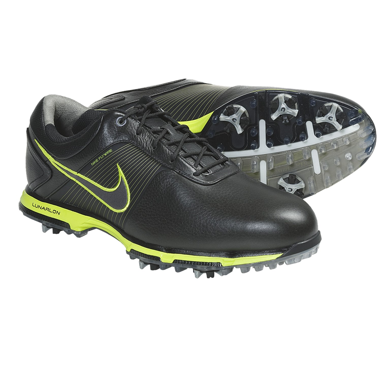 Nike Golf Lunar Control Golf Shoes (For Men) in Black/Metallic Dark