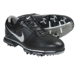 Nike Golf Lunar Control Golf Shoes (For Men) in Black/Metallic Silver/Safety Orange/Tech Green