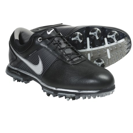 Nike Golf Lunar Control Golf Shoes (For Men) in White/Black/Metallic Pewter