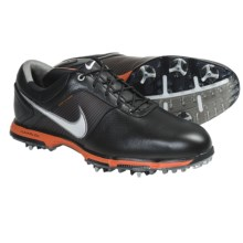Nike Golf Lunar Control Golf Shoes (For Men) in Black/Metallic Silver/Safety Orange/Tech Green - Closeouts