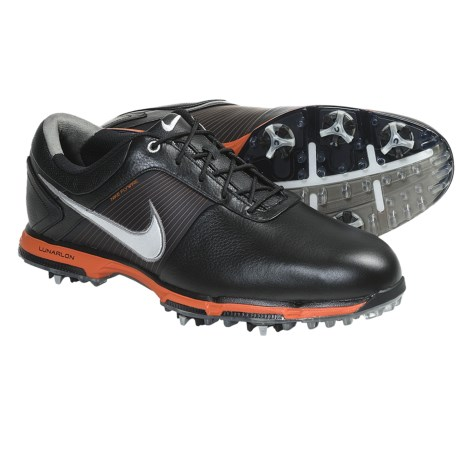 Nike Golf Lunar Control Golf Shoes (For Men) in Black/Metallic Dark Grey/Cyber/Cyber