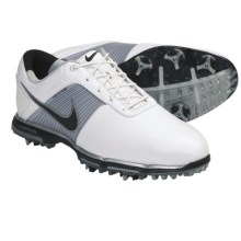 Nike Golf Lunar Control Golf Shoes (For Men) in White/Black/Metallic Pewter - Closeouts