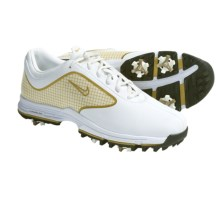 Nike Golf Lunar Links Golf Shoes (For Women) in White/Metallic Gold - Closeouts