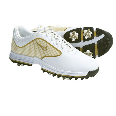Nike Golf Lunar Links Golf Shoes (For Women) in White/Metallic Gold