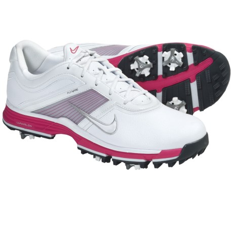 Nike Golf Nike Lunar Links Golf Shoes (For Women) in White/White Siren/Red Black