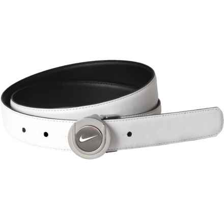 Nike Golf Tour Ball Marker II Leather Belt - Reversible (For Women) in White/Black - Closeouts
