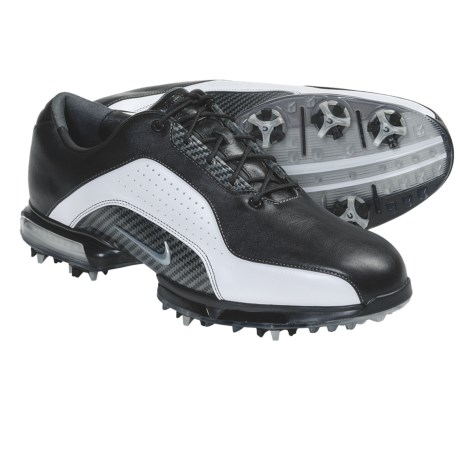 Nike Golf Zoom Advance Golf Shoes (For Men) in Black/Metallic Silver/White