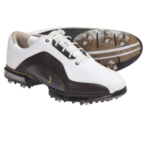 Nike Golf Zoom Advance Golf Shoes (For Men) in White/Bronze/Brown