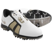 Nike Golf Zoom Trophy Golf Shoes - Waterproof (For Men) in White/Metallic Gold/Black - Closeouts