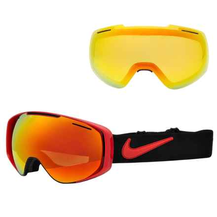 Nike Khyber Ski Goggles - Extra Lens in University Red/Red Ion+Yellow Red Ion - Closeouts