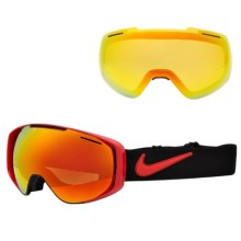 Nike Khyber Snowsport Goggles - Extra Lens in University Red/Red Ion+Yellow Red Ion - Closeouts