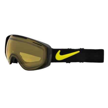 Nike Khyber Snowsport Goggles - Photochromic Lens in Black Cyber/Yellow - Closeouts