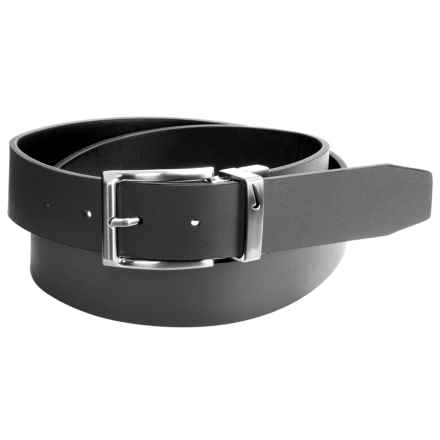 Nike Loop Cutout Leather Belt - Reversible (For Men) in Black/Gray - Closeouts