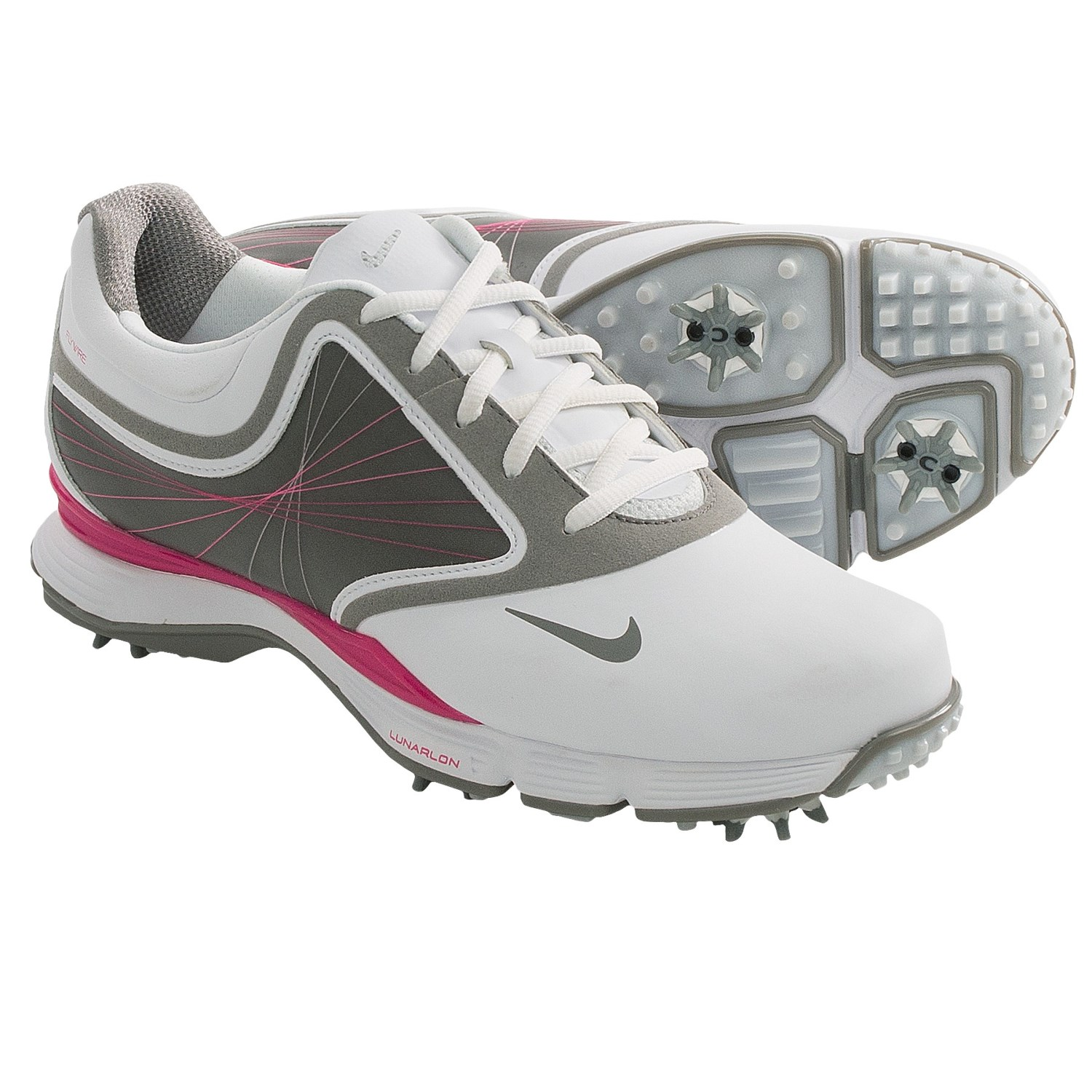 Nike Lunar Links III Golf Shoes (For Women) in White/Sport Grey/Pink