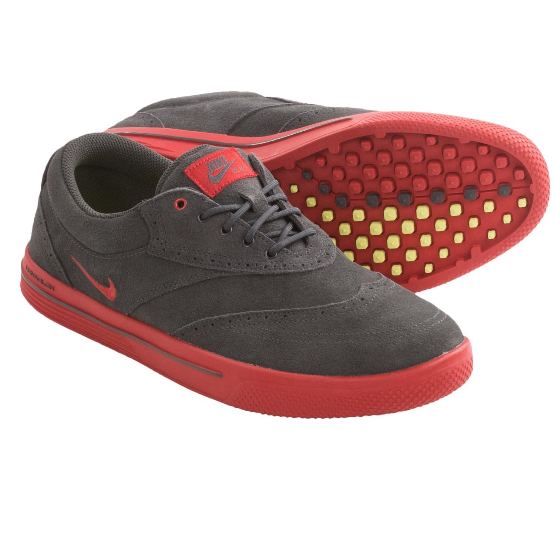 designer fashion e8b12 e5272 ... nike lunar swingtip suede golf shoes for men in anthracite brickhouse~p  ...