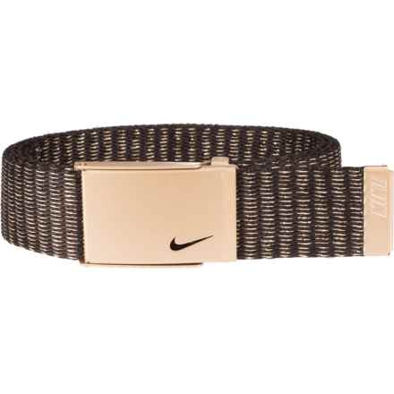 Nike Lurex® Single Web Belt (For Women) in Gold - Closeouts