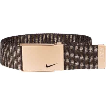 Nike Lurex® Single Web Belt (For Women) in Gold - Closeouts
