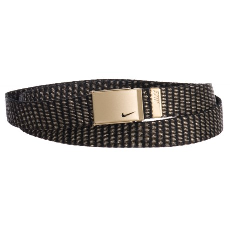 Nike Lurex Single Web Belt (For Women) in Gold